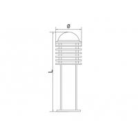 Lampa de gradina ERSTE ANDRES 30 1xE27, 60W, 30 cm