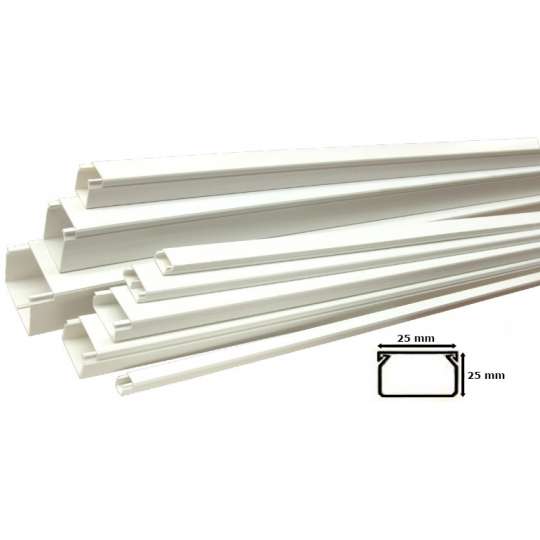 Canal Cablu PVC cu banda adeziva 25x25 mm - 2 m Novelite