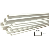 Canal Cablu PVC cu banda adeziva 40x40 mm - 2 m Novelite