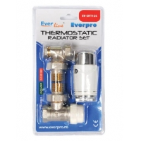 Set robineti calorifer tur + retur 1/2 + cap termostatat Waldemar