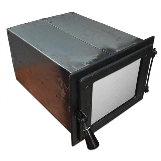 Cuptor soba mare cu geam 350x260x410 mm Negru