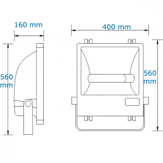 Proiector profesional Bi-metal echipat, E40, 400W Total Green TG-4203.5113