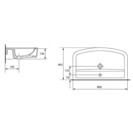 Lavoar mobilier Pure 80 cm, antibacterian Pure Silverit Cersanit