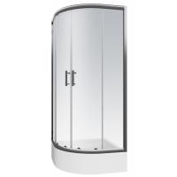 Cabina dus semirotunda Cersanit Nama sticla transparenta 90x190 cm