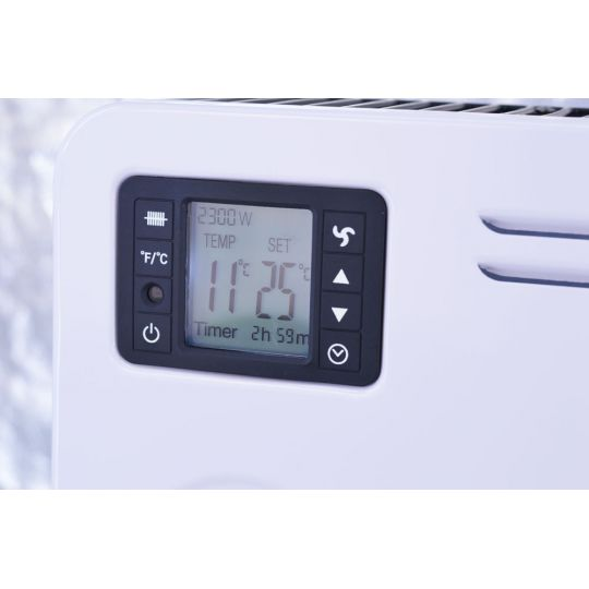 Convector electric Hausberg HB-8230, 2300 W, 3 nivele de putere, termostat reglabil, LCD
