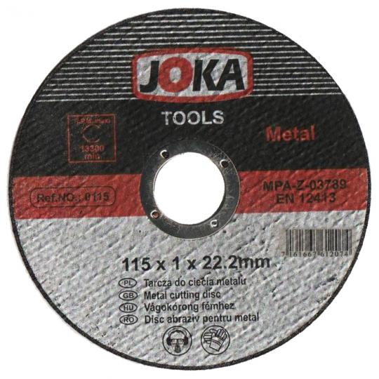 Disc debitare Joka metal EN12413 - 115x1 mm