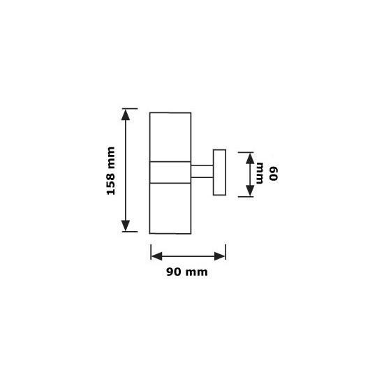 Lampa de gradina ANTAL, 2x35W, GU10, IP44, crom