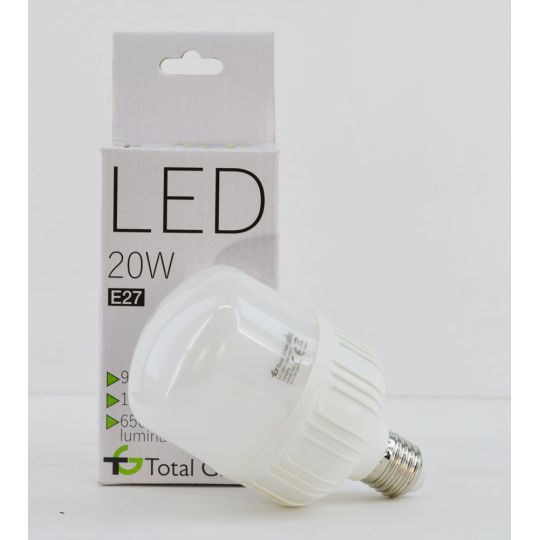 Bec LED Profesional 20W, Glob, E27, lumina rece 6500K, Total Green