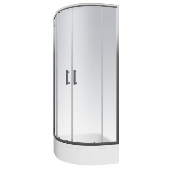 Cabina dus semirotunda Cersanit Onega sticla transparenta 80x190 cm