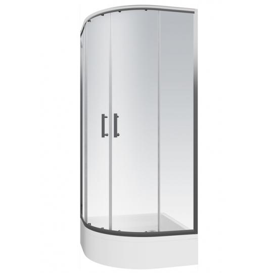 Cabina dus semirotunda Cersanit Onega sticla transparenta 90x190 cm