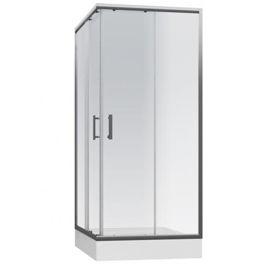 Cabina dus patrata Cersanit Onega sticla transparenta 90x190 cm