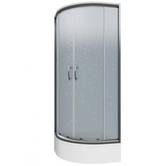 Cabina dus semirotunda Cersanit Ineba sticla inghetata 80x185 cm