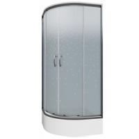 Cabina dus semirotunda Cersanit Ineba sticla inghetata 90x185 cm