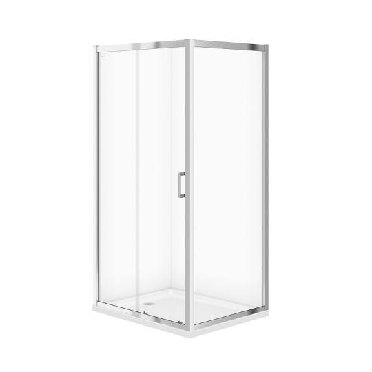 Cabina dus dreptunghiulara Cersanit Arteco sticla transparenta 100x80x190 cm