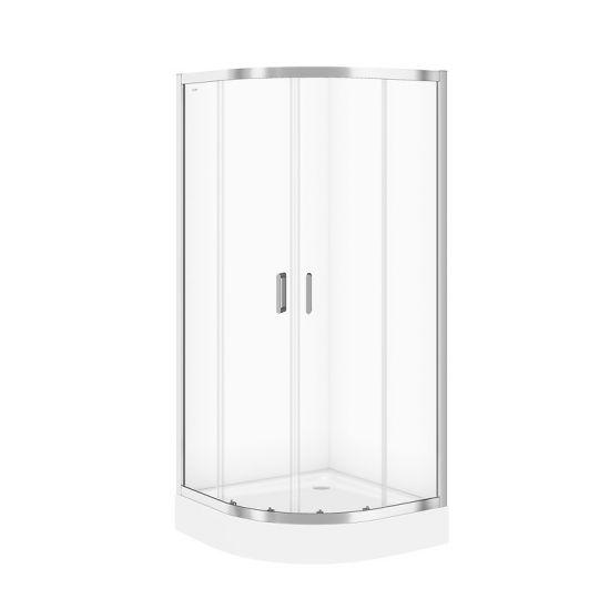 Cabina dus semirotunda Cersanit Arteco sticla transparenta 90x90x190 cm