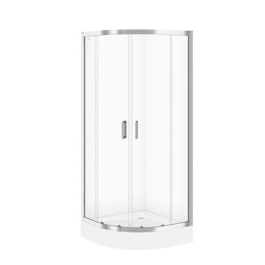Cabina dus semirotunda Cersanit Arteco sticla transparenta 80x80x190 cm