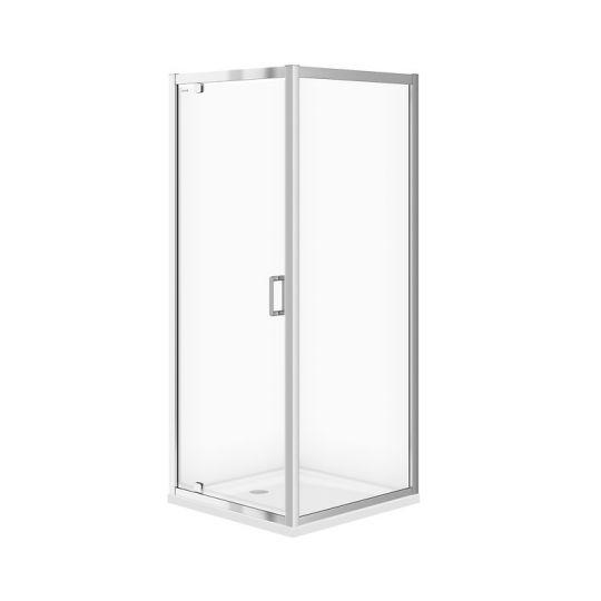 Cabina dus patrata Cersanit Arteco sticla transparenta 80x80x190 cm