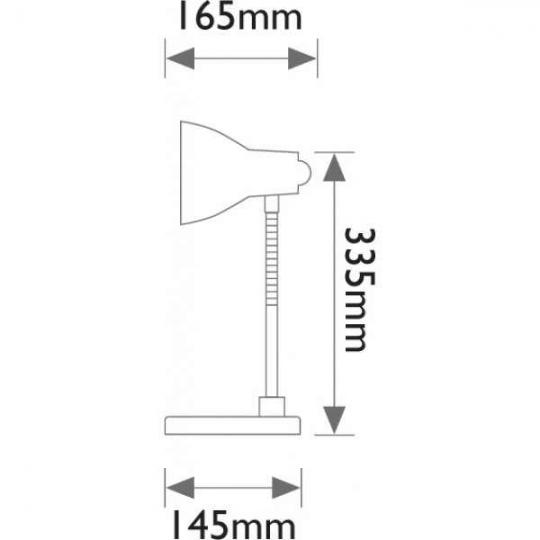 Lampa de birou 1xE14, 40W Solido