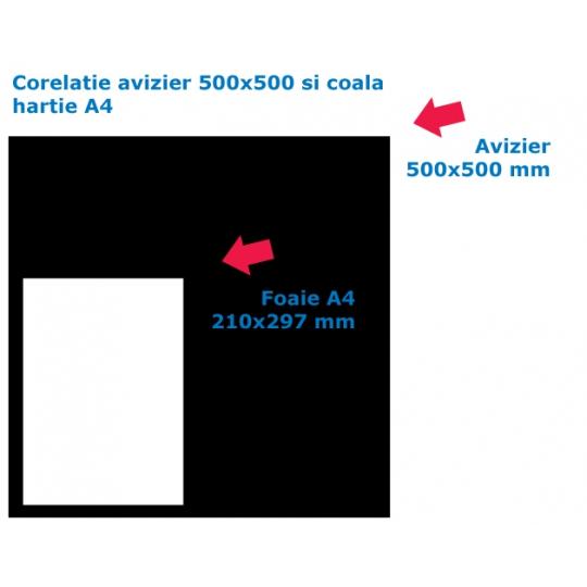Avizier scara bloc 500x500x10 cm