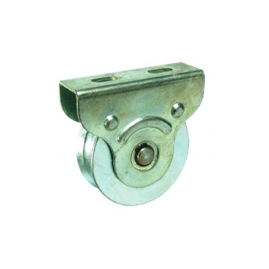 Rola cu rulment si suport pentru porti glisante 90 mm