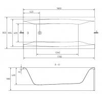 Cada de baie Cersanit Virgo 180x80 cm + set picioare inclus