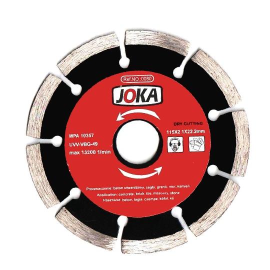 Disc diamantat Dry 115x22.2 mm Joka