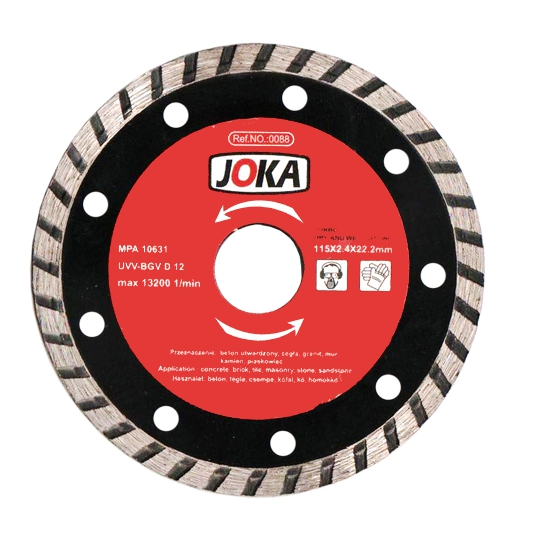 Disc diamantat Turbo 230x22.2 mm continuu Joka