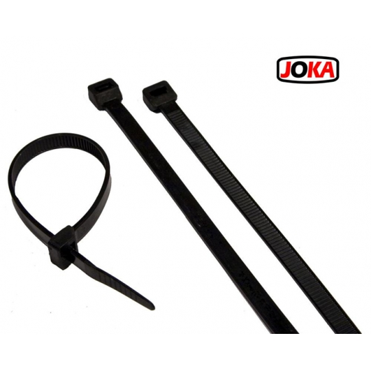 Bride cabluri 430X4.8mm -100 buc Joka Negru