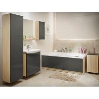 Dulap de baie gri Cersanit Smart pentru lavoar Carina 50