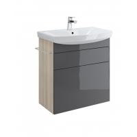 Dulap de baie gri Cersanit Smart pentru lavoar Carina 70