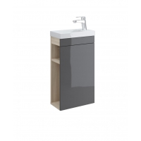 Dulap de baie gri Cersanit Smart pentru lavoar Como 40 Cersanit
