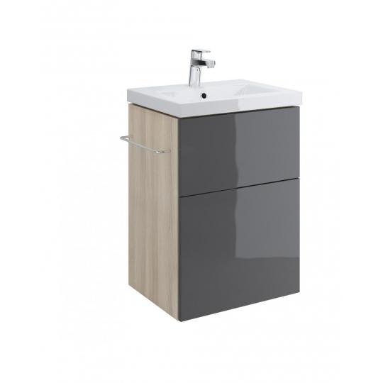 Dulap de baie gri Cersanit Smart pentru lavoar Como/Nature/City/Fare/Colour/Ontario 50