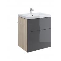 1.00 x Dulap de baie gri Cersanit Smart pentru Como 60 / Nature 60 / City 60 / Fare 60 / Colour 60 / Ontario 60 / Amao 60 / Zuro 60 Cersanit