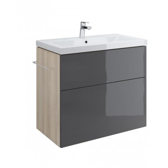 Dulap de baie gri Cersanit Smart pentru lavoar Como 80 / Amao 80 / Fare 80 / Zuro 80