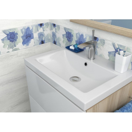 Dulap de baie alb Cersanit Smart pentru lavoar Carina 70 Cersanit