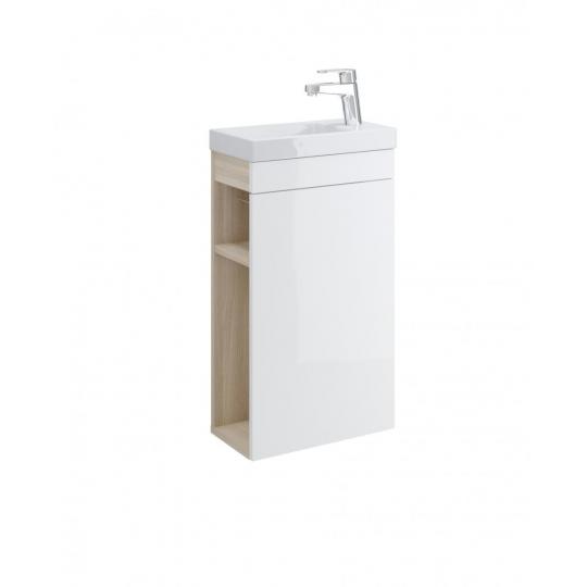Dulap de baie alb Cersanit Smart pentru lavoar Como 40