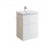 Dulap de baie alb Cersanit Smart pentru lavoar Como / Nature / City / Colour / Ontario 50