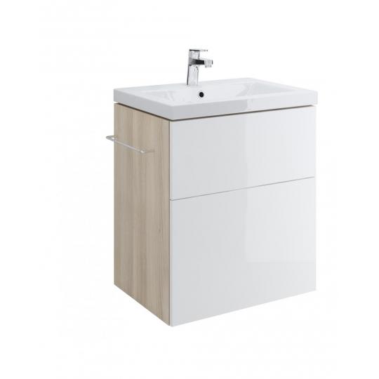 Dulap de baie alb Cersanit Smart pentru lavoar Como 60 / Nature 60 / City 60 / Colour 60 / Ontario 60 / Amao 60 / Zuro 60 Cersanit