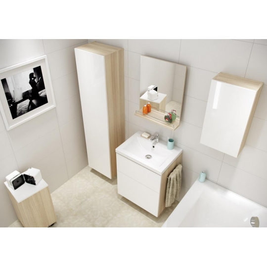 Dulap de baie alb Cersanit Smart pentru lavoar Como 60 / City 60 / Colour 60 / Ontario 60 / Amao 60 / Zuro 60 Cersanit