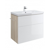 1 x Dulap de baie alb Cersanit Smart pentru lavoar Como 80 / Amao 80 / Zuro 80 / Fare 80 Cersanit