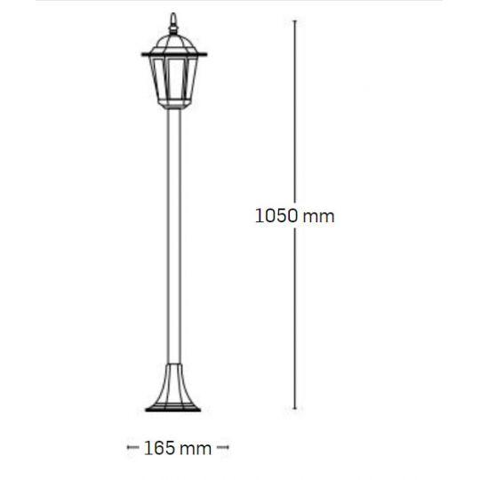 Lampa de gradina Corona Antic 1xE27, 60W, 105 cm