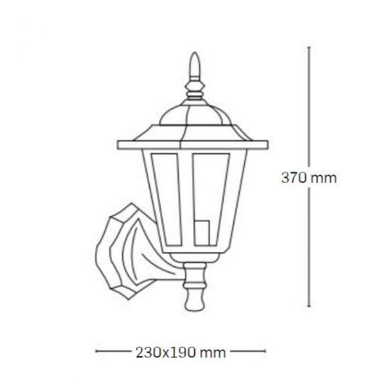 Lampa de gradina Elegance Antic 1xE27, 60W, prindere perete