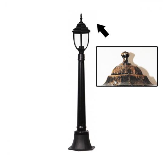 Lampa de gradina Elegance Round Antic 1xE27, 60W, 120 cm