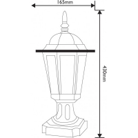 Lampa de gradina Elegance Antic 1xE27, 60W, 43 cm