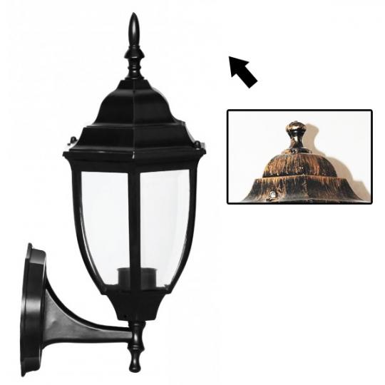 Lampa de gradina Elegance Round Antic 1xE27, 60W, prindere perete