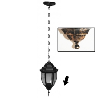 Lampa de gradina Elegance Round Antic 1xE27, 60W, prindere tavan