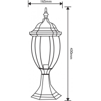Lampa de gradina Corint Negru 1xE27, 60W, 43 cm