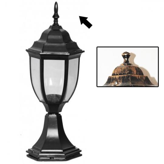 Lampa de gradina Elegance Round Antic 1xE27, 60W, 43 cm