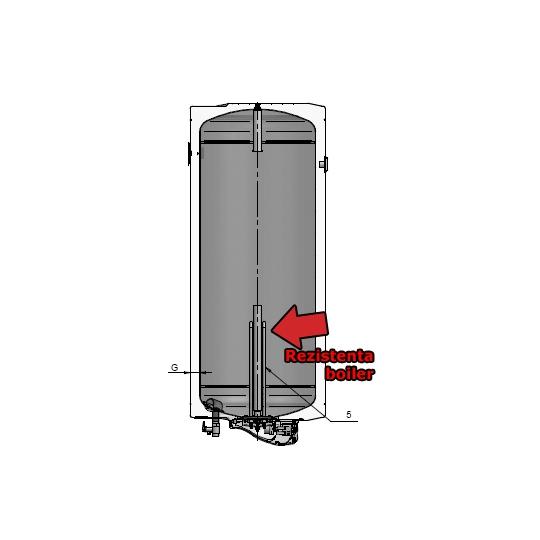 Rezistenta boiler ELDOM vertical, prindere perete 2000W