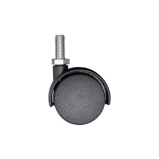 Rotila pivotanta 40 mm nylon simpla, cu surub
